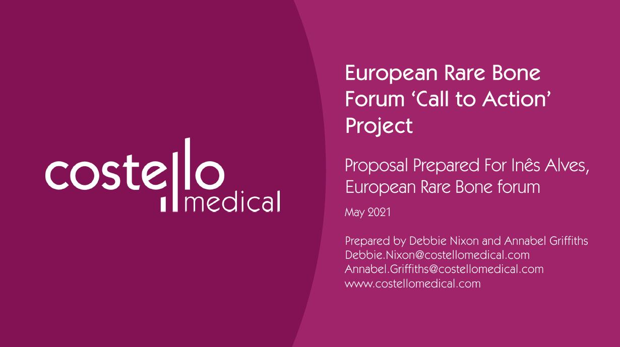 European rare bone forum call to action project